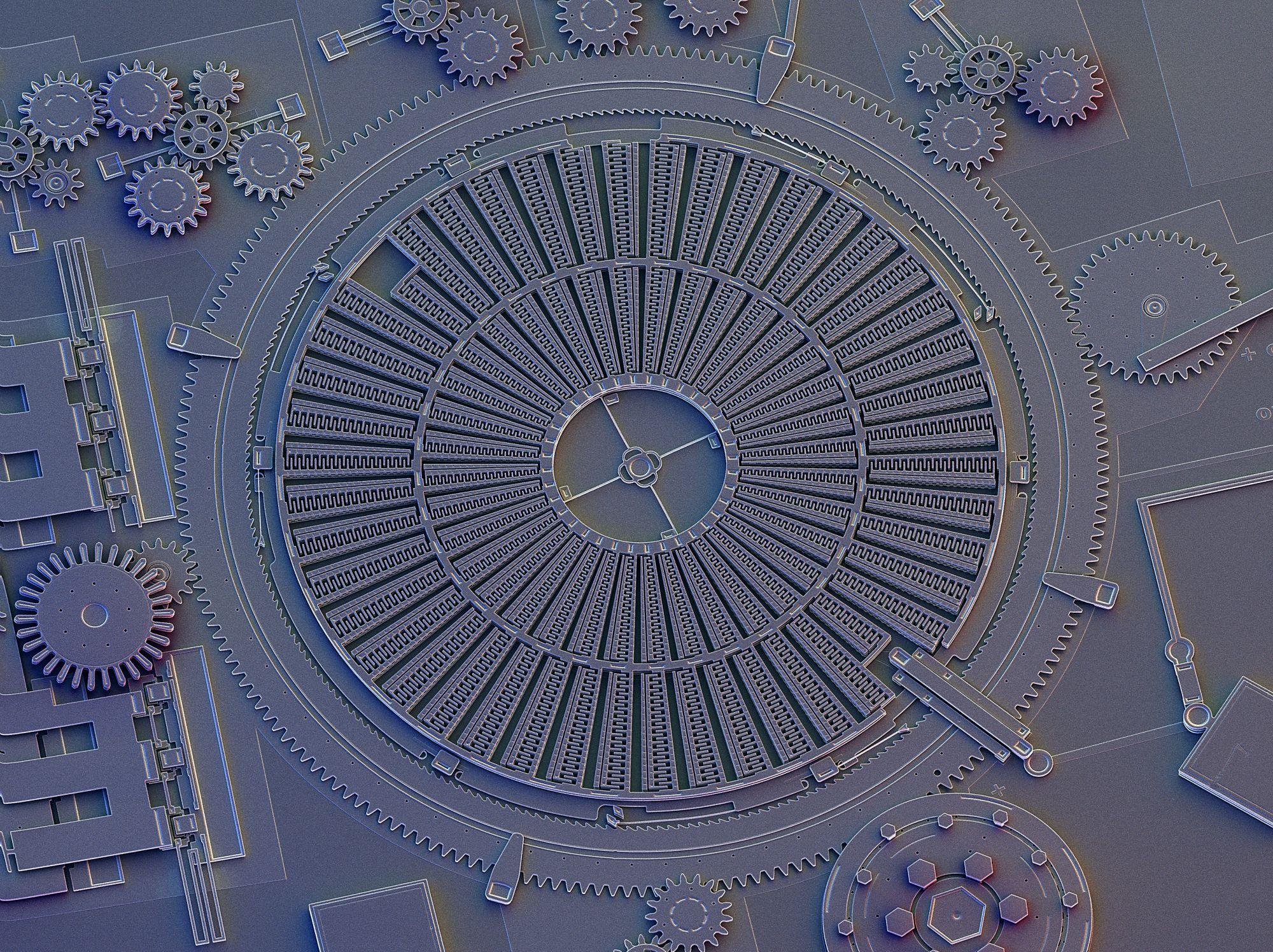 Внутри микросхем бывают электродвигатели