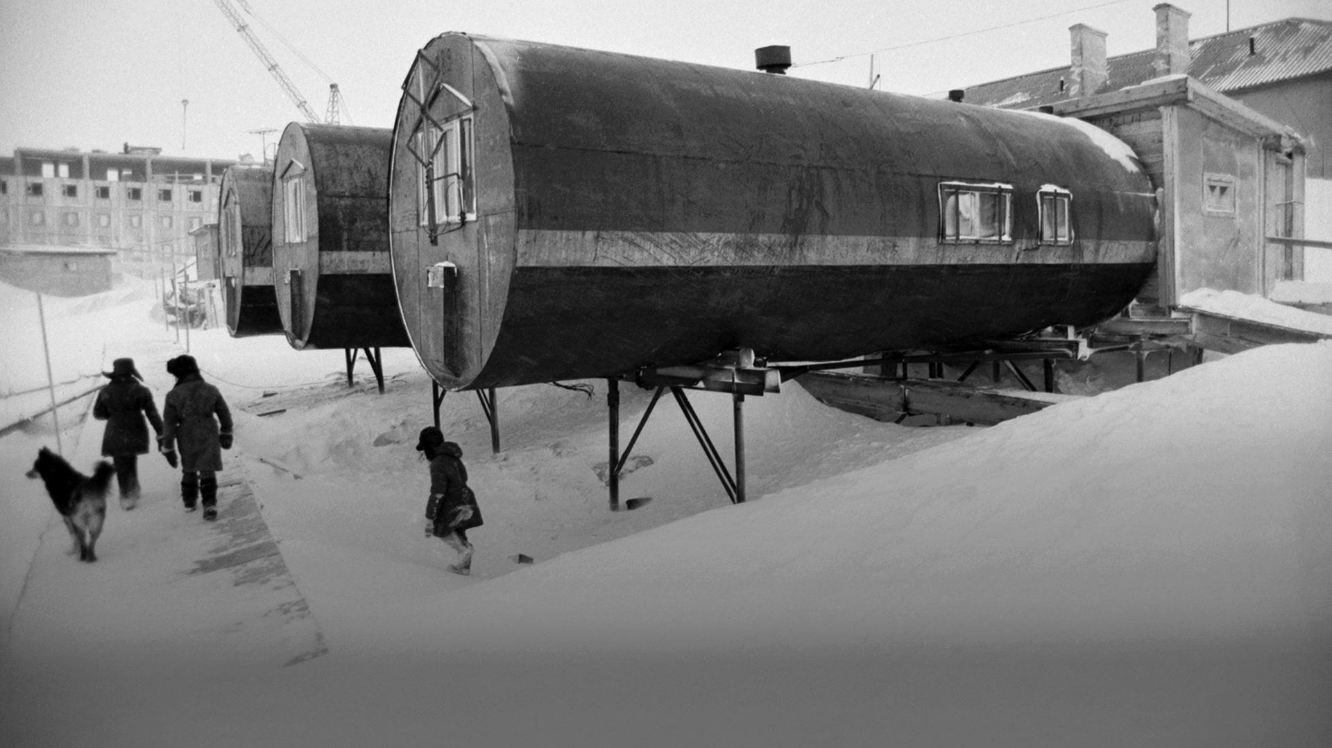 Арктические модульные дома-бочки в СССР