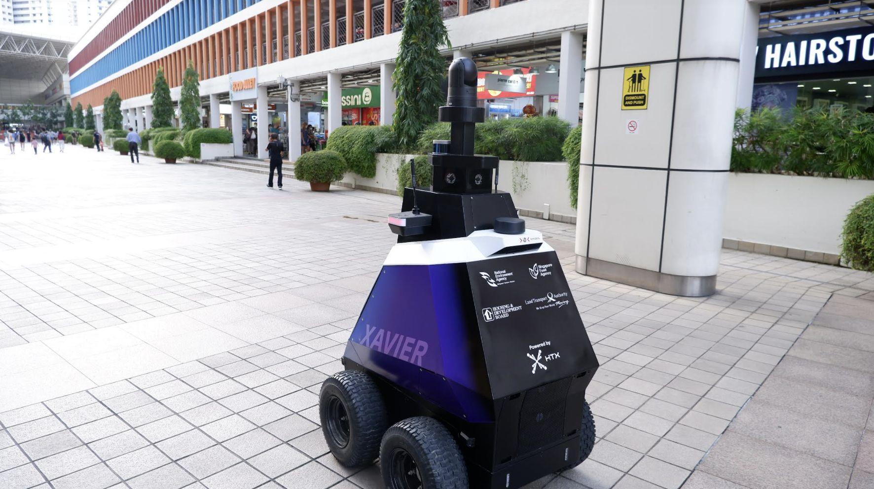 Роботы патрулируют Сингапур
